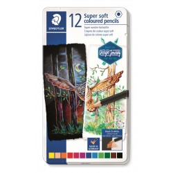 LLAPIS COLORS STAEDTLER 149M12. SUPER SOFT CAPSA 12 COLORS ASSORTITS