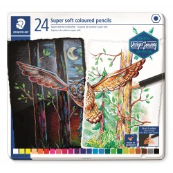 LLAPIS COLORS STAEDTLER 149M24. SUPER SOFT CAPSA 24 COLORS ASSORTITS