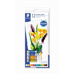 PINTURES ACRÍLIQUES STAEDTLER 8500C12. TUB 12ML. 12 COLORS ASSORTITS