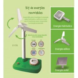 KIT ENERGIES RENOVABLES: PER INVESTIGAR L'ENERGIA SOLAR, HIDRÀULICA, EÒLICA A CLASSE. JOGUINA A PARTIR DE 8 A 14 ANYS