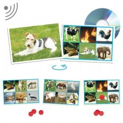 SONS ANIMALS. 25 TARGETES I 150 FITXES AMB CD-ROM. JOGUINA A PARTIR DE 3 ANYS