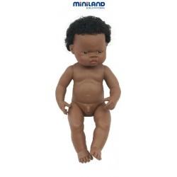 NINOT AFRICÀ AMB SEXE 38 CM. NEN. JOGUINA A PARTIR DE 3 ANYS.