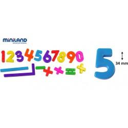 NÚMEROS MAGNÈTICS. POT 162 UNITATS DE 3,4 X 2 CM. JOGUINA A PARTIR DE 3 ANYS
