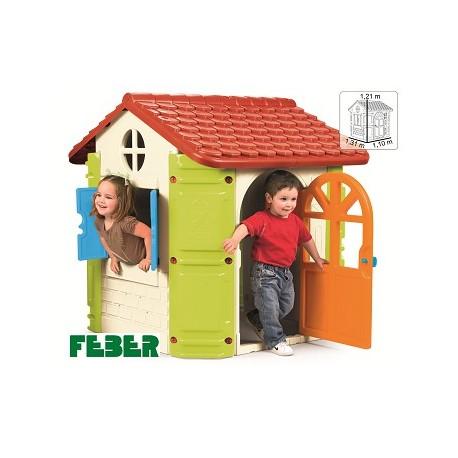 HOUSE FEBER.CASETA RESISTENT PLÀSTIC 131 X 110 X 121 CM. JOGUINA A PARTIR DE 2