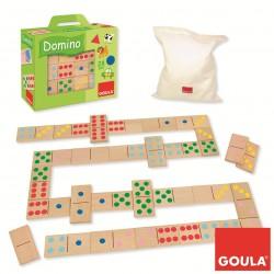 DÒMINO PUNTS FITXES 7 X 3,5 CM. JOGUINA A PARTIR DE 2 ANYS