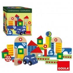 PACK CONSTRUCCIONS 41 PECES FUSTA 19 X 18,5 X 18,5 CM. JOGUINA A PARTIR DE 1 ANY