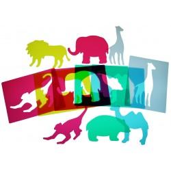 ANIMALS ZOO TRANSLÚCIDS. 6 ANIMALS. JOGUINA A PARTIR DE 3 ANYS