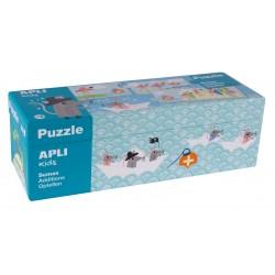 PUZZLE SUMES. 10 PUZZLES 3 FITXES 49 X 7 CM. JOGUINA A PARTIR DE 3 ANYS