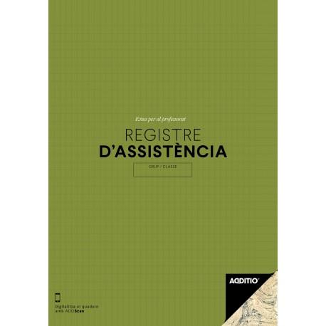 QUADERN REGISTRE D'ASSISTÈNCIA DIÀRIA I MENSUAL. RESUM ANUAL ADDITIO