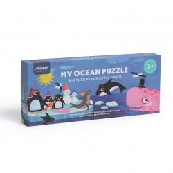 OCEAN. PUZZLE GEGANT 100 X 22 CM. 28 PECES